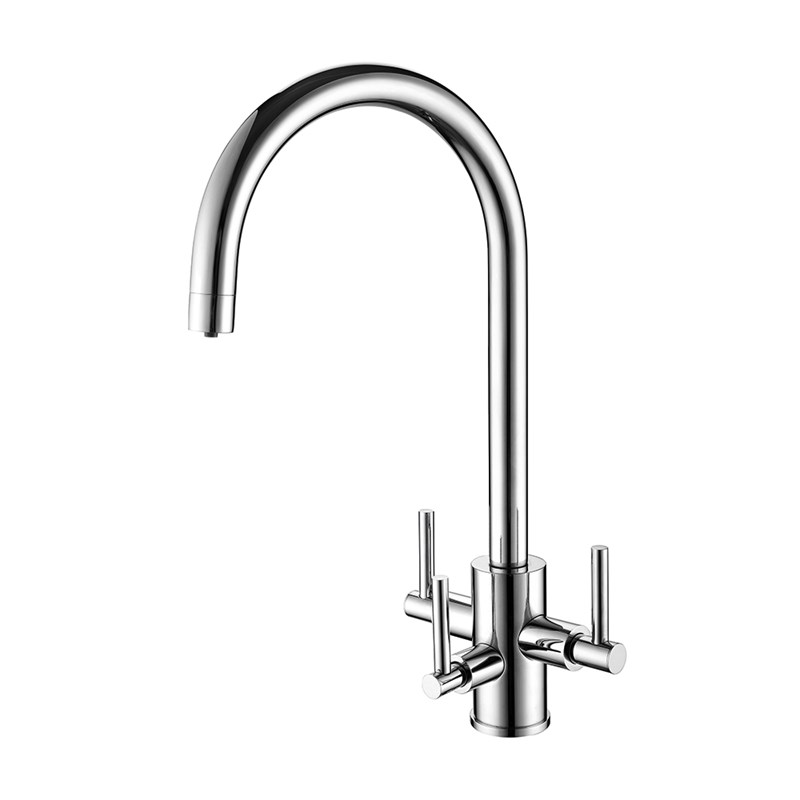Clearwater Stella Triple Lever Mono Filtered Water Tap - Chrome